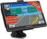 Bluetooth Navi Navigation für Auto Navigationsgerät LKW Navigationssystem PKW 7 Zoll 16GB Kostenloses Kartenupdate mit Freisprecheinrichtung POI...
