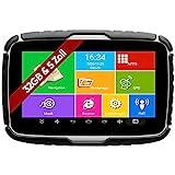 Elebest Navigationsgerät Rider A6+ Navigation für Motorrad und PKW, 5 Zoll Bildschirm Android 6.0 - Bluetooth W-LAN Wasserfest 32 GB Speicher...