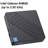 Mini PC Lüfterlos Intel Celeron N4020 (bis zu 2,8 GHz) 4GB DDR4/64GB eMMC Mini-Desktop-Computer Windows 10 HDMI- und VGA, 2,4/5,8 G WiFi BT4.2 3xUSB3.0,M.2...