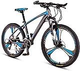 Fahrrad Mens Mountain Bikes, Erwachsener Frauen 33 Geschwindigkeit Berg Fahrrad, Hardtail Mountainbike mit Doppelscheibenbremse, Pendler Fahrrad, Speichen Gray,...