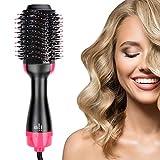 RLBUNZ One-Step Haartrockner Warmluftbürste, 4 in 1 Multifunktionaler Heißluftbürste Haarglätter Hair Styler Lockenbürste Volumenbürste, Negativ-Ionen...