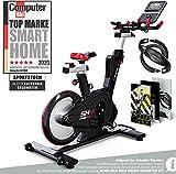 Sportstech Elite Indoor Cycle Bike | Deutsches Qualitätsunternehmen | Video Events & Multiplayer App | computergesteuertes Magnetbremssystem + 26kg Masse |...