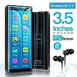 MYMAHDI MP3-Player, hochauflösender und voller Touchscreen, verlustfreier HiFi-Sound-Player mit Bluetooth 5.0, FM-Radio, Sprachaufzeichnung, unterstützt bis...