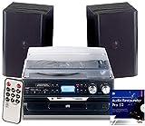 auvisio Kompaktanlagen: 5in1-Plattenspieler mit Bluetooth und Digitalisier-Funktion, 40 Watt (Schallplattendigitalisierer)