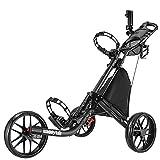 CaddyTek Golfwagen golf trolleys 3 Rad Golf Push cart leicht falten-dark grau