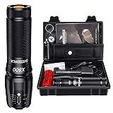 Shadowhawk X800 Led Taschenlampe, Super Helle 3000 Lumen Taschenlampen, Wiederaufladbare Taktische Taschenlampe mit Zoom für Camping, Wandern und Notfälle...