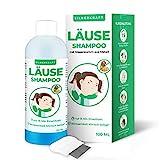 Silberkraft Läuseshampoo 100 ml mit Nissenkamm, zur Behandlung bei Kopfläusen und Nissen, effektives 2-Phasen-Shampoo, schonend für die Kopfhaut, für Kinder...