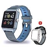 Smartwatch GPS Sportuhr, Fitness Armbanduhr 1,3 Zoll Touchscreen Laufuhr GPS Fitness Smartwatch mit Pulsmesser, GPS-Uhr mit schwimmenmodi Smart Notifications...