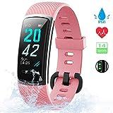 [Neuestes Modell] Fitness Tracker, KUNGIX Schrittzähler Uhr IP68 Wasserdicht Smartwatch mit Pulsmesser Smart Watch für Damen Herren Kinder iOS Android...