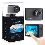 AKASO Action Cam/4K/30fps 20MP Action Camera mit Touchscreen, 30m Unterwasserkamera/helmkamera,Fernbedienung,EIS,LCD,Zeitraffer,Slow Motion,Akku Zubehör