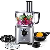 Küchenmaschine Multifunktions Yabano, 6 IN 1 Food Processor, Standmixer, Mixer, Zerkleinerer, Entsafter, Multi Mixer mit Knethaken, Häcksler, Reibe, 3...