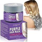 No-Yellow Mask, Purple Hair Mask, Anti Gelb Haarmaske, Silber Haarmaske für blondes und graues Haar und blondiertes Haar,intensive Haarpflege für...