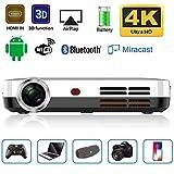 JLCN Mini-Projektor-beweglicher 3500 Lumen 3D-DLP-1280 * 800 Auflösung Android Wi-Fi Bluetooth 600Ansi LED HDMI HD Videoprojektor Beamer Unterstützung 1080P...