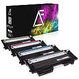 4 Toner kompatibel für Samsung Xpress C430W/TEG C480W/TEG Farblaserdrucker - CLT-P404C/ELS - Schwarz 1500 Seiten, Color je 1000 Seiten