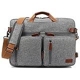 CoolBELL umwandelbar Rucksack Messenger Bag Umhängetasche Laptop Tasche Handtasche Business Aktentasche Multifunktions Reise Rucksack Passend für 17,3 Zoll...