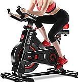 Dripex Heimtrainer, Fitnessbikes Ergometer mit Schutzhülle, Pulsmesser, stufenlose Widerstandseinstellung und großes Trägheitsschwungrad, Benutzergewicht bis...