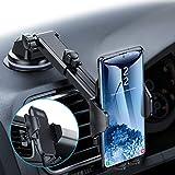 andobil Handyhalterung Auto Handyhalter fürs Auto 3 in 1 Lüftung & Saugnapf Halterung Upgrade 4,0 Ultra Stabile KFZ Smartphone Halterung für iPhone11/11...