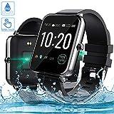Smartwatch, Zagzog 1,54 Zoll Voller Touch Screen Bluetooth Smartwatch Wasserdicht IP68 Fitness Tracker GPS Sportuhr Armband Pulsuhren Schrittzähler Smartwatch...