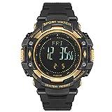 Smartwatches,Outdoor Bergsport wasserdichte Uhr Smart Multifunktions Freizeituhr Schwarz/Gold