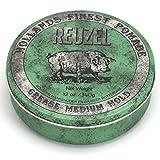 Reuzel - Green Grease Medium Hold Pomade - Funktioniert gut bei normalem bis dickem Haar - Kontrolliert das lockigste dickste und widerspenstigste Haar -...