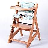 TIGGO Hochstuhl Treppenhochstuhl Babyhochstuhl Kinderhochstuhl Kindertreppenhochstuhl Babystuhl NATUR 6551-D01 G