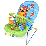 DREAMADE Babywippe mit Musik und Vibration, Babywiege Schaukelwippe Baby Schaukel verstellbar, Babyliegestuhl Baby Schlafkorb Babysitz, max.11 kg beslatbar...
