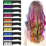 XIMU Haarkreide 10 Farbe, Haar Colorationen, Temporäre Haarfarbe, Sicher und Harmlos, Geeignet für Kinder ab 3 Jahren, Geburtstagsfeier für Mädchen Kinder...