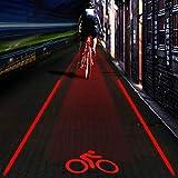 Yissma Twin Fahrrad-Rücklicht mit innovativer 360° Bodenleuchte für mehr Sichtbarkeit und Schutz,USB Wiederaufladbare 5LED Fahrrad Rücklicht Auto Shutdown...