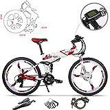 RICH BIT elektrische Mountainbikes RT-860 26 Zoll faltbares Elektrofahrrad 36V Elektrofahrrad mit 12,8 Ah LG Li E-Bike für Männer/Erwachsene