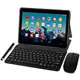 Tablet 10 Zoll 4G LTE - TOSCIDO M863 Tablets Android 10.0,Tablet PC 4 GB/RAM,64 GB/ROM ,Otca Core,Dual SIM,WiFi, Tastatur |Wireless Maus|M863 Tablet Cover und...
