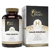 Nuvi Health® Haar Vitamine - 180 Kapseln - Premium Komplex mit D-Biotin, Hirseextrakt, Bambusextrakt, N-acetyl-cystein, Selen, Zink & B-Vitaminen - Vegan -...