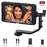 ESDDI F5 5 Zoll Kamera Monitor Full HD IPS Bildschirm Monitor unterstützt 4K HDMI Input 1920x1080 wiederaufladbarer Li-ion Akku inklusive USB-Akkuladegerät...