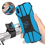 SYOSIN Fahrrad Handyhalterung, Universal Abnehmbare Motorrad Handyhalterung Fahrrad Anti-Shake Fahrradhalterung Mit 360 Drehen für 3,5-6,5 Zoll Smartphone