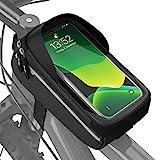 Velmia Fahrrad Rahmentasche Wasserdicht - Fahrrad Handyhalterung ideal zur Navigation - Fahrradtasche Rahmen, Fahrrad Handytasche, Fahrradzubehör