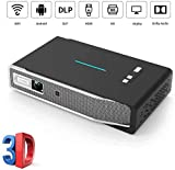 YAYY Mini-Videoprojektor NEW1 3X hellerer Full-HD-LED-Filmprojektor mit 300 Bildern Android 7 1 3D-Dolby-Sound WiFi 1080P Unterstützt Kompatibel mit TV-Stick /...