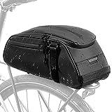 Fahrrad Gepäcktasche, Wasserfeste Fahrrad-Rücksitz-Packtasche Cargo Trunk Storage Fahrradträger-Umhängetasche mit 8-Liter-Rückentaschenschleife mit...