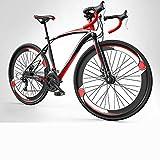 700C High Carbon Stahl Rennrad 27-Gang Rennrad Zwei Scheibenbremse Rennrad Ultraleichtes Fahrrad,A1