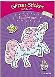 Glitzer-Sticker-Malbuch. Einhörner: Mit 45 glitzernden Stickern! (Malbücher und -blöcke)