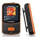 MP3 Player Bluetooth 5.0 Sport 16GB- Verlustfreier Sound FM Radio,Sprachaufzeichnung,E-Book und andere Funktionen,Unterstützt bis 128GB SD Karte...