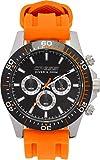 Cressi Unisex-Adult Nereus Watch Erwachsene Professionelle Taucheruhren, Schwarz/Orange, One Size