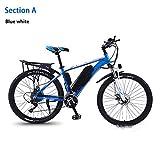 HWOEK Elektrisches Mountainbike, 350W Motor 26' E-Bike City Herausnehmbare 36V 8/10 / 13AH Lithiumbatterie 27 Gang Doppelscheiben-Hydraulikbremse Mit...