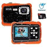 Unterwasser Kamera für Kinder,12MP HD Wasserdichte Digitalkamera,Mini Action Camcorder Kinderkamera,2.0 Zoll LCD Bildschirm Anzeige/4X Digitaler Zoom/5MP...