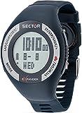 Sector Cardio Herren Uhr digital Quarzwerk mit Silikon Armband R3251473002