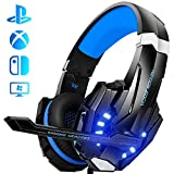 Galopar Gaming Headset, Gaming Kopfhörer mit Mikrofon, Bass Stereo Surround, kompatibel mit PS4 / Xbox One/PC/Laptop/Nintendo Switch und Mobile - Blau...