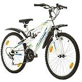 Multibrand, PROBIKE Speed 24, 24 Zoll, 330mm, FSP Mountainbike, 18 Gang, Unisex, Kotflügel Set (Weiß+Kotflügel)