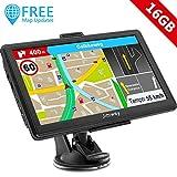Jimwey GPS Navi Navigation für Auto LKW PKW 7 Zoll 16GB Lebenslang Kostenloses Kartenupdate Navigationsgerät mit POI Blitzerwarnung Sprachführung...