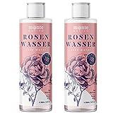 Reines Rosenwasser MonteNativo 2x200ml (400ml) - 100% natürlich, echtes Gesichtswasser, Rein und Naturbelassen, naturreines Rosen-Hydrolat, doppelte...