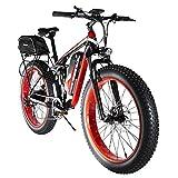 Extrbici Fettreifen Elektrofahrrad 750W / 1500W BAFANG Hochgeschwindigkeitsmotor 48V Herren und Damen Mountainbike Fahrrad Lithiumbatterie Vollfederung...