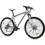 CHRISSON 27,5 Zoll Mountainbike Hardtail - 27,5er Weiss - Hardtail Mountain Bike mit 24 Gang Shimano Acera Kettenschaltung - MTB Fahrrad für Herren und Damen...