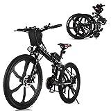 Vivi 26 Zoll 350W Elektrisches Klappfahrrad Mountainbike 36V 8AH Abnehmbare Batterie Doppelhydraulische Scheibenbremse Aluminiumlegierungsrahmen Integriertes...